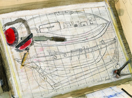 Drawing of a boats plans